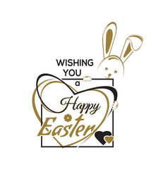 Wishing you a happy easter easter hand lettering vector
