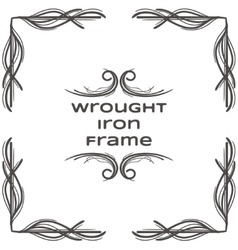 Wrought iron frame one vector