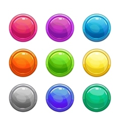Colorful glossy round buttons vector