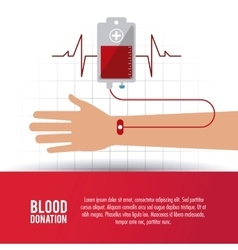 Arm bag hand blood donation icon graphic vector