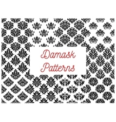 Damask seamless decorative ornament patterns vector
