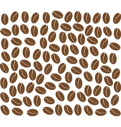 Coffee beans background vector