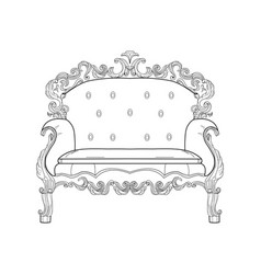baroque furniture rich armchair handmade vector image