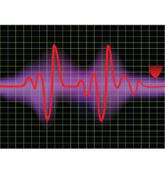 pulse and heartbeat vector image