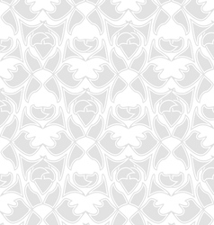 Decorative seamless pattern silver vector