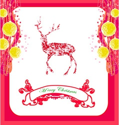 Reindeer design abstract christmas card vector