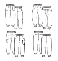 Pants outline vector