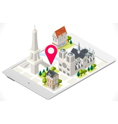 Paris on a Tablet 01 vector image