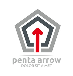 Logo penta arrow design element symbol icon vector