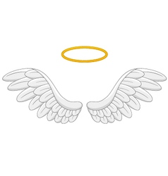 Angel wings cartoon vector