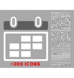 Month calendar icon vector