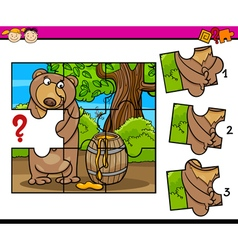 Puzzle preschool cartoon task vector