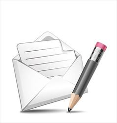 Mail and pen vector