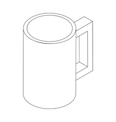 Beer mug icon isometric 3d style vector