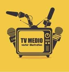 Tv medio design vector