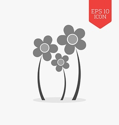 Flowers icon flat design gray color symbol modern vector