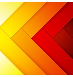 Abstract red orange and yellow crossing rectangle vector image