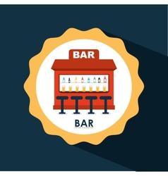 bar icon design vector image