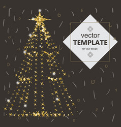 beautiful elegant christmas tree vector image vector image