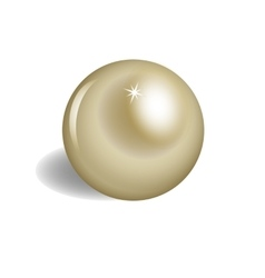 Big brilliant pearl on white background vector
