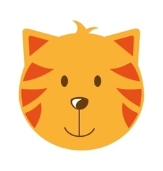 Cat head isolated icon design vector