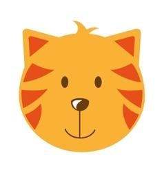 Cat head isolated icon design vector