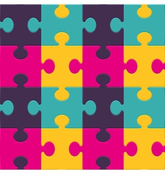 Colorful puzzle seamless background pattern vector image vector image