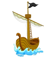 cute pirate ship cartoon vector image