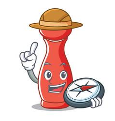 Explorer pepper mill character cartoon vector