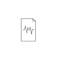 Files pulse sign icon vector