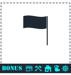 Flag icon flat vector image vector image
