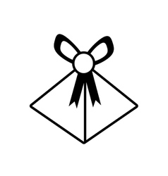 Gift box wedding present icon outline vector
