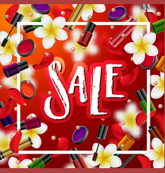 make up accessories beauty store sale vector image vector image