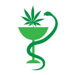 Medical marijuana logo icon medical cannabis vector