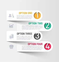 Modern business infographics template vector image
