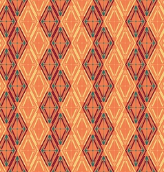 Pattern of colored diamonds vector image vector image