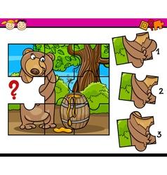 Puzzle preschool cartoon task vector