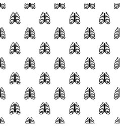 Rib cage pattern vector