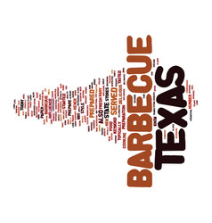 Texas barbecue text background word cloud concept vector