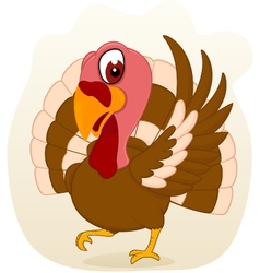 Turkey standing vector image