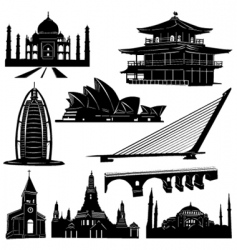 urban architecture building vector image