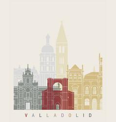 Valladolid skyline poster vector