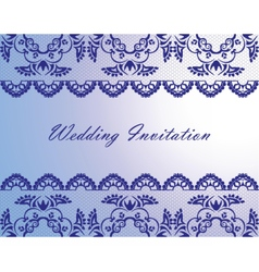 Wedding lace invitation card vector
