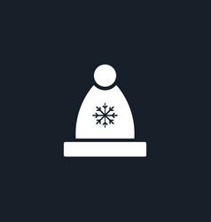 winter hat icon simple vector image vector image