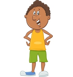 African american boy cartoon vector