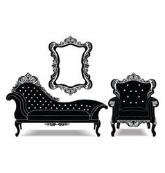 Classic baroque royal set vector