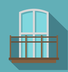 Balcony in french style icon flat style vector
