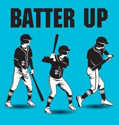 Batter up baseball artwork vector