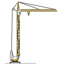 Crane tower vector