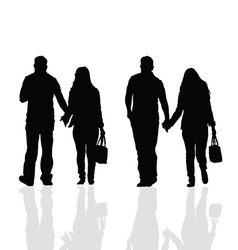 Couples silhouette vector